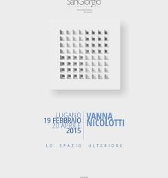 Locandina Vanna Nicolotti - Lo Spazio Ulteriore