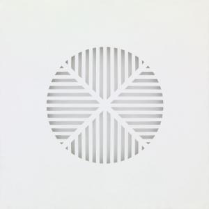 Silenzio n°4 2012 | tela intagliata e dipinta | cm 60x60