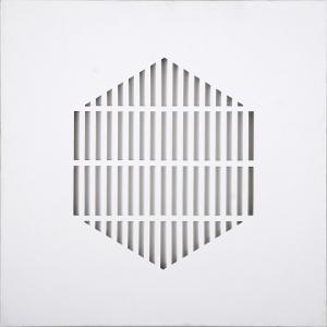 Silenzio n°3 2012 | tela intagliata e dipinta | cm 60x60