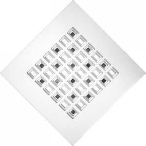 Struttura Mandala 2013 | tela intagliata e dipinta e metallo speculare | cm 60x60